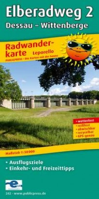 Radwanderkarte Elberadweg 2: Dessau - Wittenberge