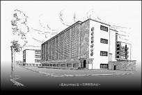 Das Bauhaus Dessau ca. 1930