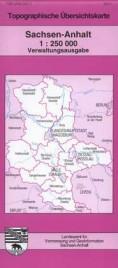 Topografische Übersichtskarte Sachsen-Anhalt, Verwaltungsausgabe