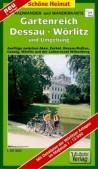 Wanderkarte und Radwanderkarte Gartenreich Dessau-Wörlitz und Umgebung