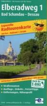 Radwanderkarte Elberadweg 1: Bad Schandau - Dessau